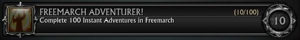 Freemarch Adventurer! 100