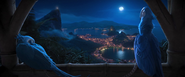 Rio (movie) wallpaper - Blu and Jewel at night from Vista Chinesa