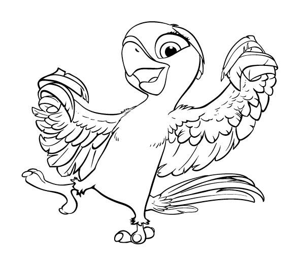 Free Rio Movie Coloring Pages