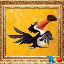 Toucan Oil Painting