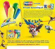 Rio 2 Popsicle Contest