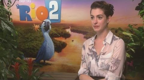 Rio 2 Anne Hathaway interview turns into therapy session