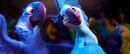Blu and jewel dancing