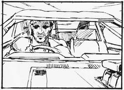 Max driving his renovated interceptor in autorama