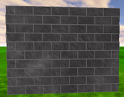 A brick wall using textures.