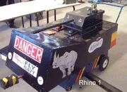 Rhino after Robot Wars