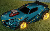 Unmasked decal orange rare