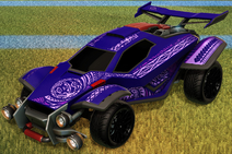 Tribal decal purple rare