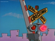Railroad Crossing Cartoon Rocko's Modern Life Driving Mrs Wolfe 01