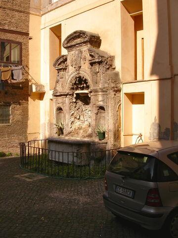 File:2011 Ambrogio, fountain outside entrance.jpg