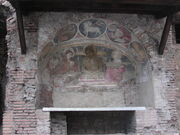 Rita di Cascia -old church, fresco