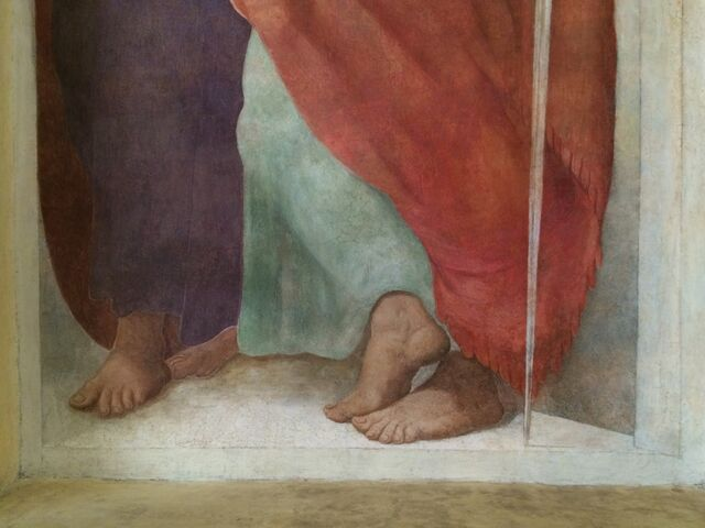 File:S. Andrea del Vignola - Fresco St. Paul - detail of feet.jpg