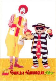Ronald McDonald & Hamburglar sharing 1