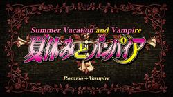 Rosario + Vampire Episode 9 Title Card