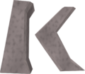 K sigil detail