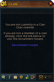 Clan Chat Menu