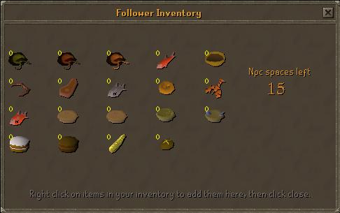 Follower inventory