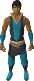 Mercenary's gloves equipped