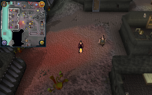 Scan clue Keldagrim west of Laughing Miner Pub