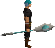 Celestial catalytic staff equipped