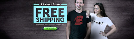 Merch Store free shipping head banner