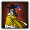 Musketeer outfit icon (female)