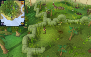 Scan clue Kharazi Jungle north-west side of Herblore Habitat south camp