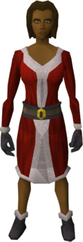 Santa costume (female) equipped