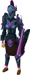 Ancient armour set (sk) equipped