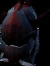 Black dragonhide coif detail
