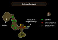 Entrana Dungeon map