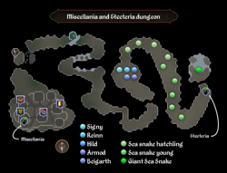 Miscellania and Etceteria dungeon map