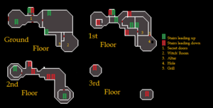 Black Knights' Fortress (historical) map