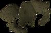 Damaged armour detail