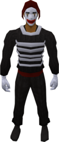 Mime clothing equipped
