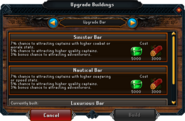 Upgrade Buildings interface