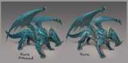 Rune dragon concept art