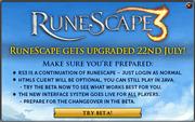 RuneScape 3 beta splash