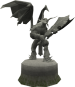 Sturdy Zamorak statue