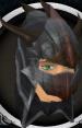 Black dragonhide coif chathead