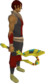 Sceptre of the gods equipped