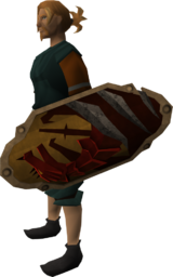 Anti-dragon shield equipped