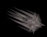 Cosmic altar shooting star