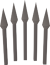Iron bolts (unf) detail