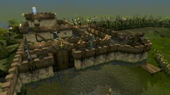 Saradomin fort aerial