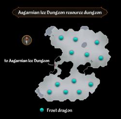 Asgarnian Ice Dungeon resource dungeon map