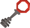 Steel key crimson detail