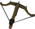 Black crossbow detail