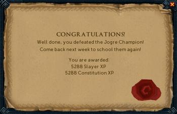 Jogre Champion Reward