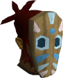 Tribal mask (blue) chathead